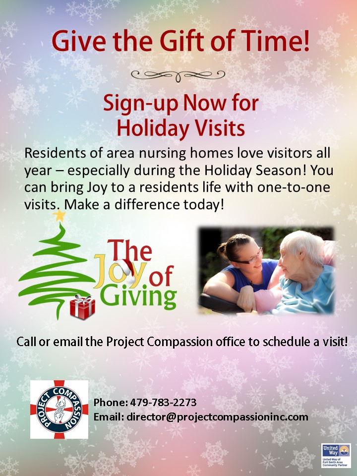 Holiday Visits - Sign up Now!