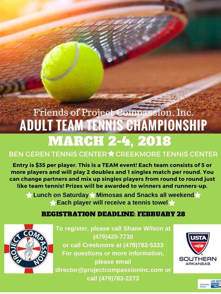 Friends of Compassion, Inc. Adult Team Tennis Championship
