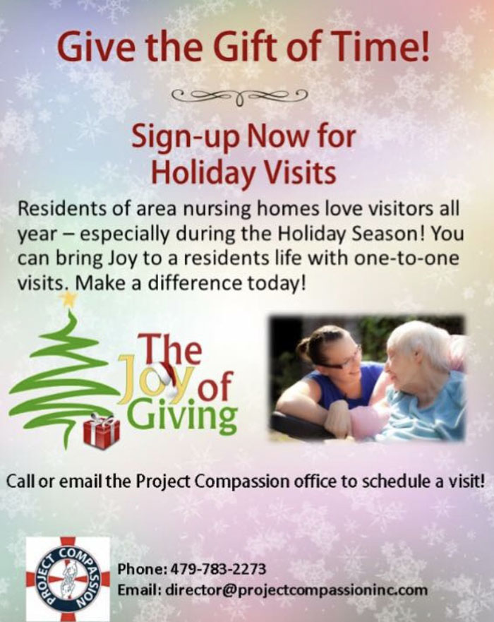 Sign Up Now For Holiday Visits
