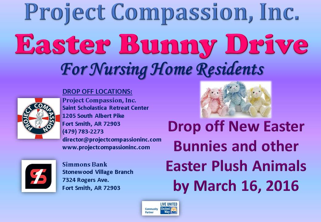 Easter Bunny Plush Animal Drive Project Compassion Inc