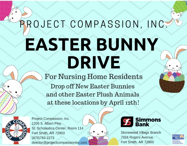 Project Compassion Easter Bunny Drive 2019 Project Compassion Inc